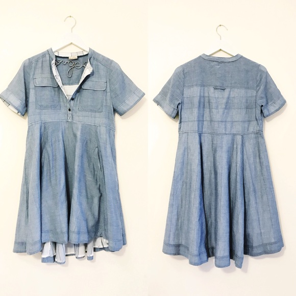 19dbf0a5d349 Anthropologie Dresses | Chambray Dress By Holding Horses | Poshmark